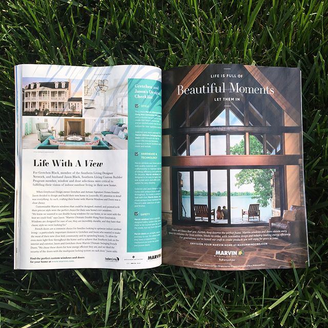 When you see your images published in Southern Living Magazine and lock up a contract with Valhalla Golf Course on a Thursday afternoon. AOL Keyword: BestDayEver! Published in association with: @artisansignaturehomes  @gretchenblack and Marvin Windows.
