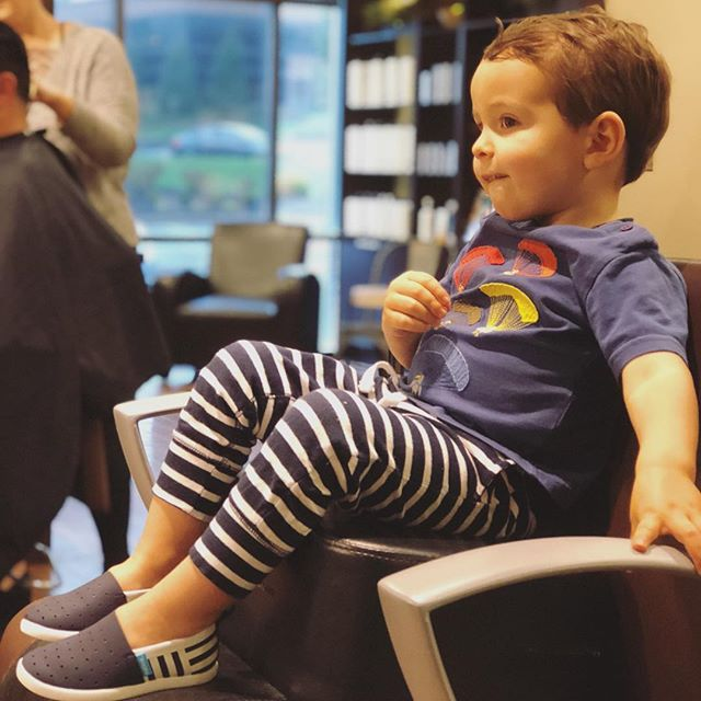 Parenting 301: Schedule your kids haircut right when they would normally go down for a nap. Harrison is always on his best behavior.